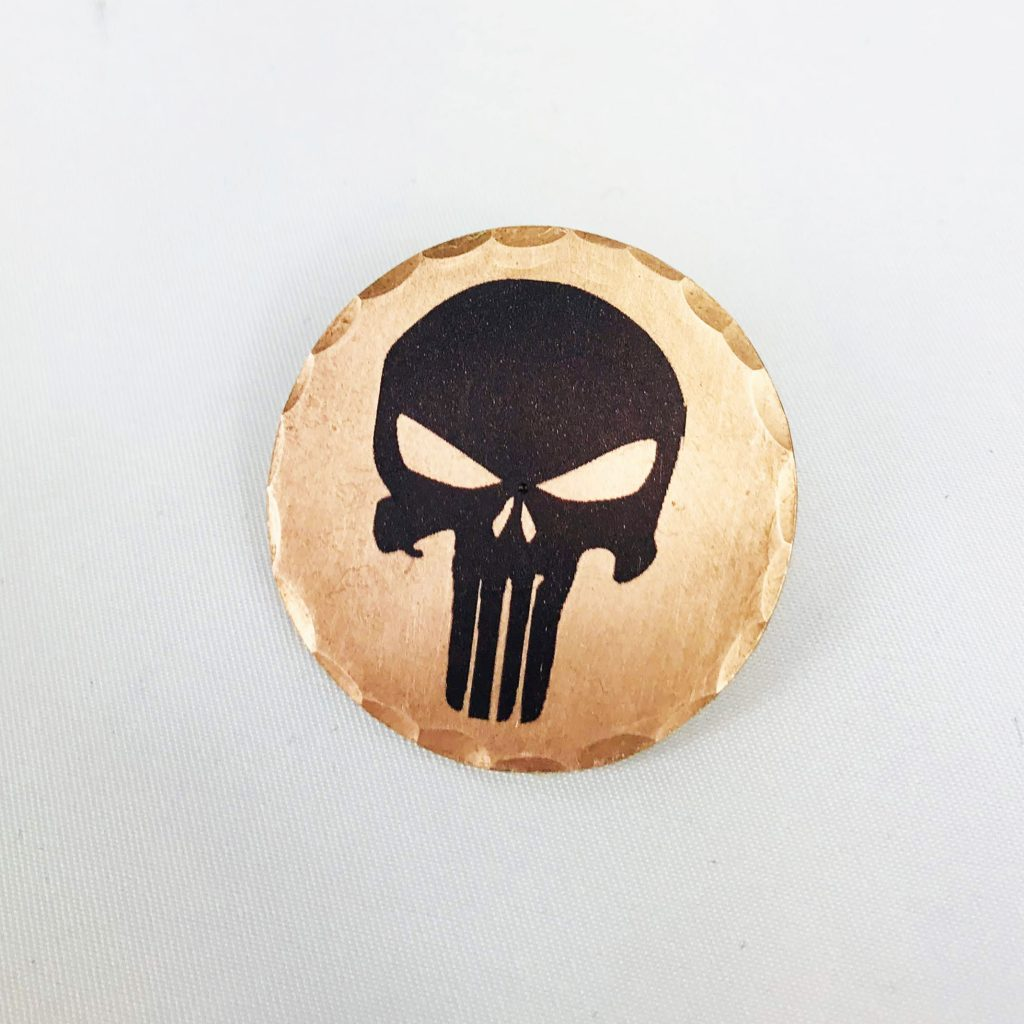 Punisher Skull Black Forged Copper Ball Marker Sunfish